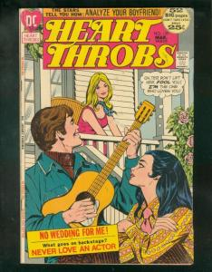 HEART THROBS #139 1972-NEVER LOVE AN ACTOR-GUITAR COVER G/VG