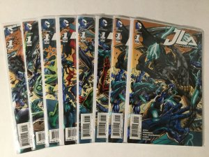Justice Leage Of America 1 Variant Set Connecting Covers Lot Nm Near Mint Dc