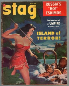 Stag #5 11/1950-Atlas-spicy-octopus-CC Besck-George Petty pin-up girls-G/VG