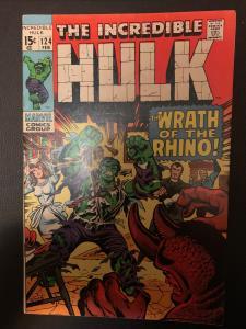 Incredible Hulk ( 1968 ) 124 Very Fine - (7.5)