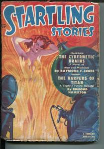 Startling Stories Pulp September 1950-THRILLING-SPICY BABE-CAPTAIN FUTURE -good