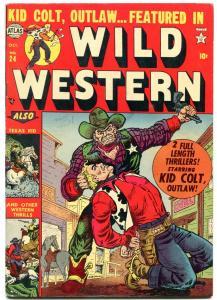 Wild Western #24 1952- Atlas Comics- Kid Colt- Texas Kid- Romita  FN-