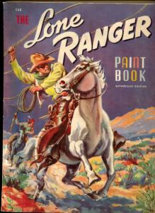 Lone Ranger Paint Book- Whitman #604 1941- rare western VG
