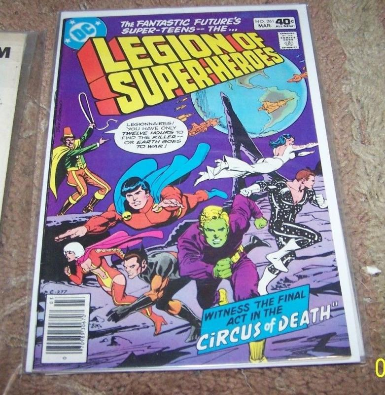 LEGION OF SUPER HEROES COMIC # 261 1980  dc  BRONZE +circus of death