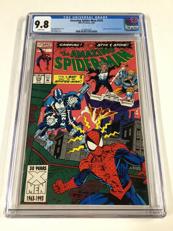 Amazing Spider-man 376 Cgc 9.8 White Pages Mark Bagley