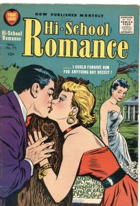 HI-SCHOOL ROMANCE #75-1958-JOE SIMON COVER-MONKEY BACK COVER AD-RARE