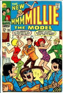 Millie The Model #168 1968-Marvel-dance cover-Chili appears-VF