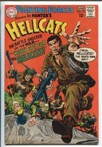 OUR FIGHTING FORCES #112 1967-DC--CAPT HUNTER'S HELLCATS-VIOLENT COVER-vf