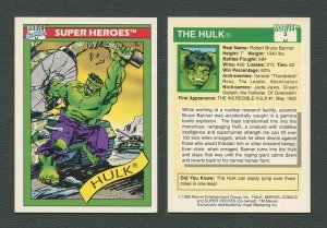 1990 Marvel Comics Card  #3  (Hulk)  NM