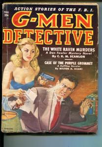 G-Men Detective  Fall 1950-Thrilling-gun moll cover-Louis L'Amour-VG MINUS