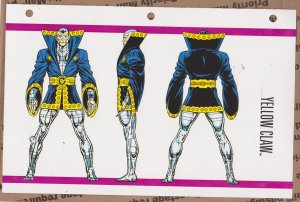 Official Handbook of the Marvel Universe Sheet - Yellow Claw