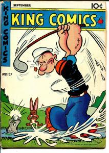 King #137 1947-David McKay-Popeye-Golf cover-Blondie-Flash Gordon-VG/FN