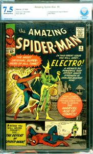 Amazing Spider-Man #9 CBCS Graded 7.5 1st Electro