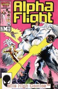 ALPHA FLIGHT (1983 Series)  #44 Very Fine Comics Book