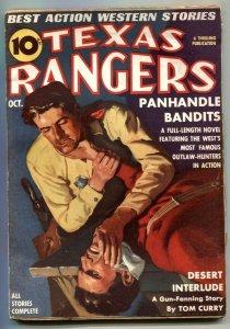 Texas Rangers Pulp October 1938- Panhandle Bandits VG