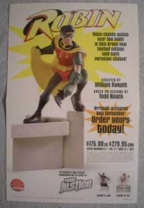 ROBIN (STATUE) Promo poster, 11x17, 2001, Unused, more Promos in store