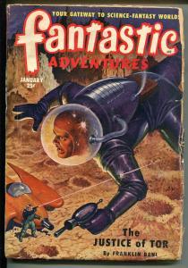 FANTASTIC ADVENTURES 1/1951-ZIFF-DAVIS-PULP SCI-FI-CLIFFORD SIMAK-JOHN JAKES-g