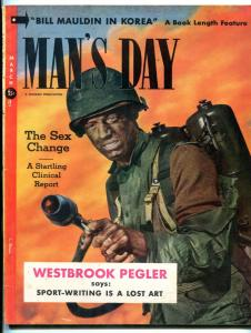 Man's Day Magazine #4 March 1953-CHEESECAKE-LILI ST CYR-FLAMETHROWER cover