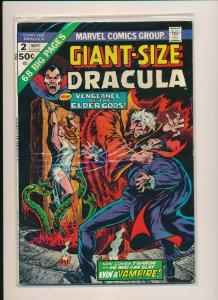 Marvel GIANT-SIZE DRACULA #2 Vengence of the Elder Gods FINE- (PF778)