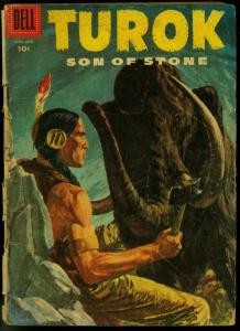 Turok Son of Stone #4 1956- Dell Comics- FAIR