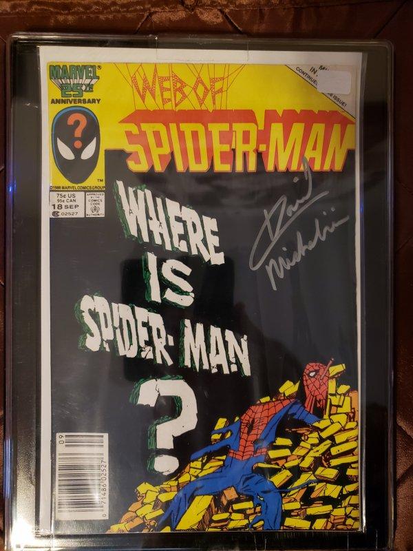 WEB OF SPIDER-MAN #18 - David Michelinie autograph