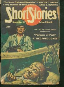 SHORT STORIES PULP 1943 SEPT 10 H BEDFORD JONES SWAMI G-