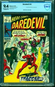 Daredevil #61 CBCS NM 9.4 Off White to White Marvel Comics