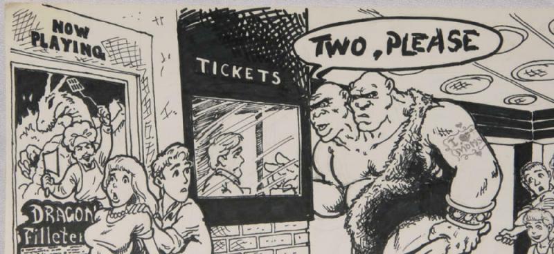 BUDD ROOT original published art, DRAGON magazine #189 pg 103, 9 x 12, 1991