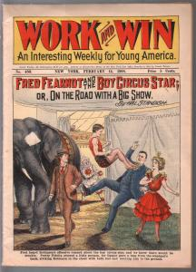 Work And Win 2/14/1908-Frank Tousey-Boy Circus Star-elephant-G