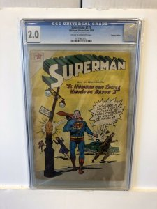 Superman #170 CGC 2.0 G mexican edition 1959 golden age CREAM TO OFF WHITE