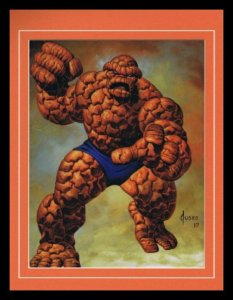 Fantastic Four The Thing Framed 11x14 Marvel Masterpieces Poster Display