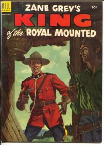 King of The Royal Mounted #15 1954-Dell-Zane Grey-RCMP-FN-