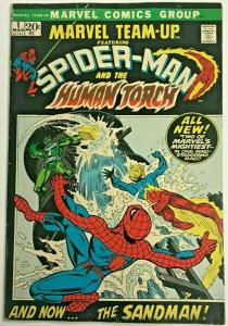 MARVEL TEAM UP#1 FN/VF 1972 BRONZE AGE COMICS