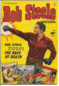 Bob Steele Western #8 1952-Fawcett- photo cover-skelton splash panel-FN