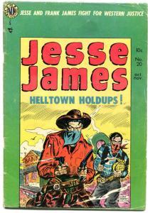 JESSE JAMES #20, VG+, Frank Frazetta, Al Williamson, Western, 1950, Avon