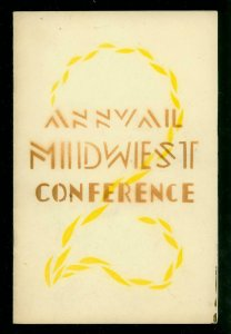 2nd Annual Midwest Sci-fi Conference Program 9/27/1942- Rare early fanzine fa...