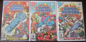 Super Powers comics set:#1-5 6.0 FN (1984)