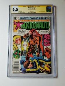 Micronauts #34 CGC SS 6.5 Signed By Bob Layton
