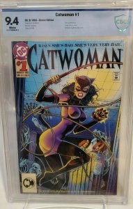 CATWOMAN #1 - CBCS 9.4 - WHITE PAGES - BANE APPEARANCE - EMBOSSED COVER