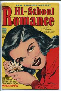 HI-SCHOOL ROMANCE #27 1954-HARVEY-PORTRAIT PIN-UP-SPICY-vg+