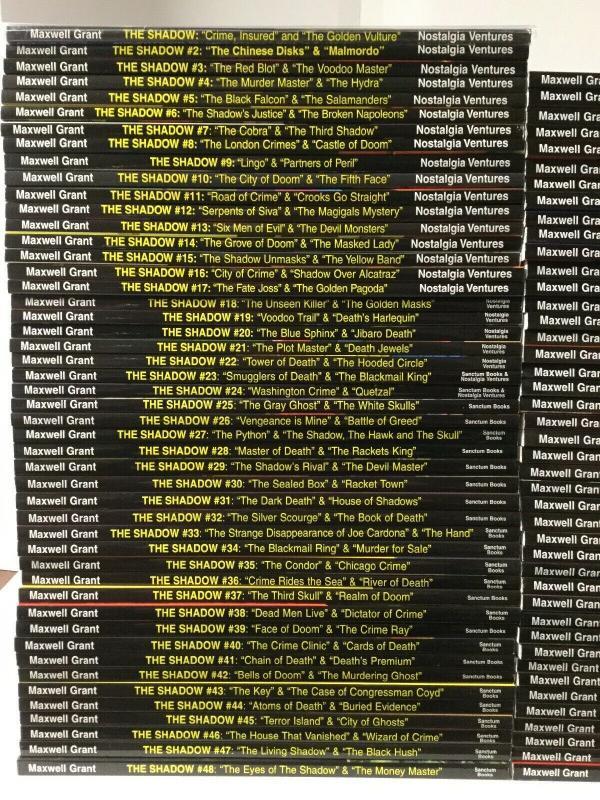 The Shadow Pulp Reprints Nostalgia Ventures Sanctum Books 1-90 Annual 1 Nm Set