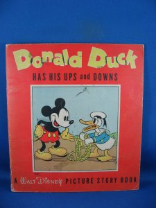 DONALD DUCK HAS HIS UPS AND DOWNS VG+ 1937