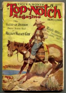 Top-Notch Pulp September 1 1926- Valley of Decision G-