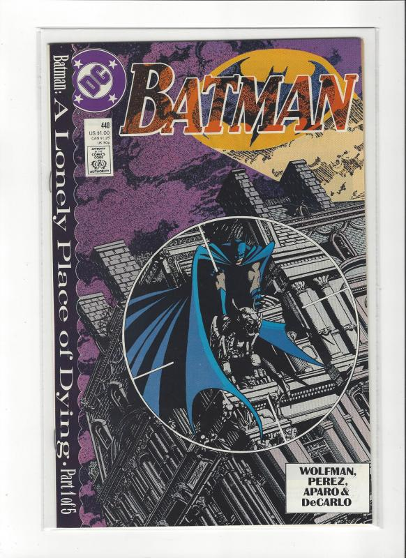 Batman #440 A Lonely Place Of Dying Pt 1  NM