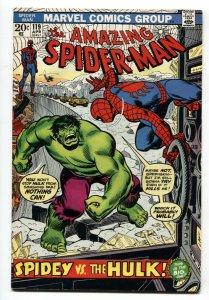 Amazing Spider-Man #119 1973- Hulk battle issue FN