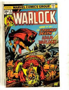 Warlock # 11 FN Marvel Comic Book Thanos Gamora Avengers Pip Troll Magus NP9