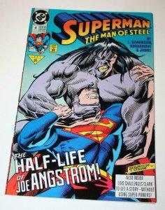 SUPERMAN MAN OF STEEL #4, VF/NM, Joe Angstrom, DC 1991  more DC in store