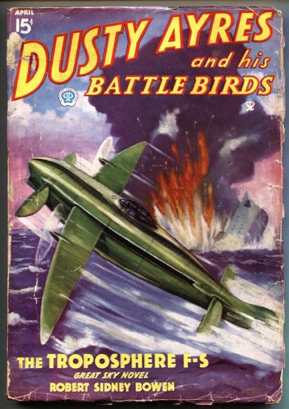 Dusty Ayres and His Battle Birds 4/1935-Popular-Blakeslee-Aviation pulp mag