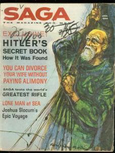SAGA MAGAZINE JAN 1962-HITLER SECRET BOOK-SLOCUM G/VG