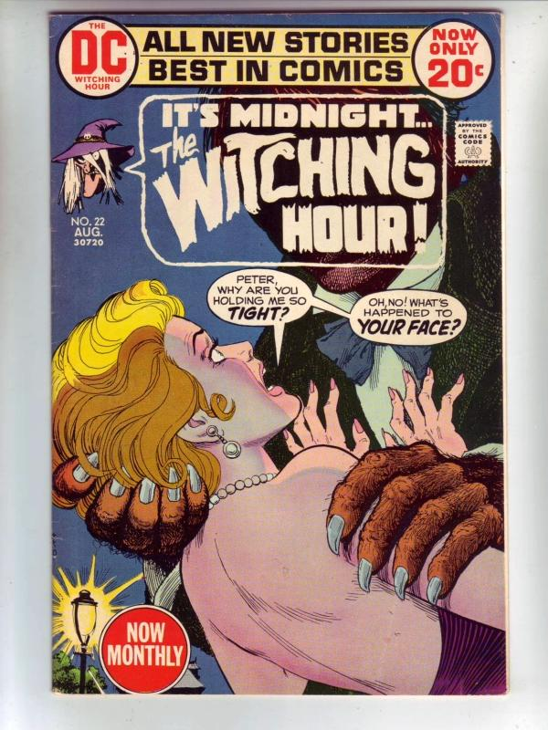 It's 12 O'Clock.. the Witching Hour #22 (Aug-72) FN/VF- Mid-High-Grade